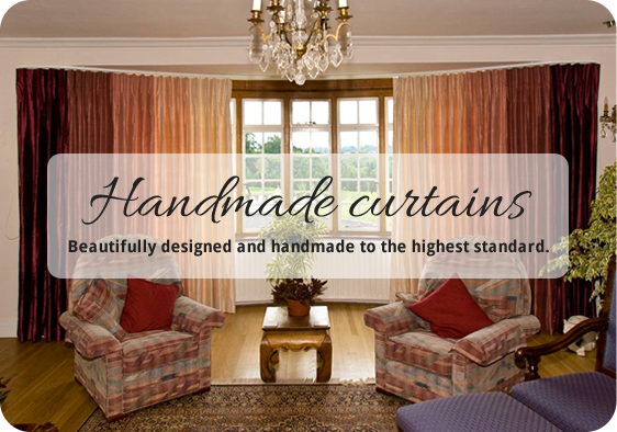 handmade bespoke made to measure Curtains Dressing Rooms