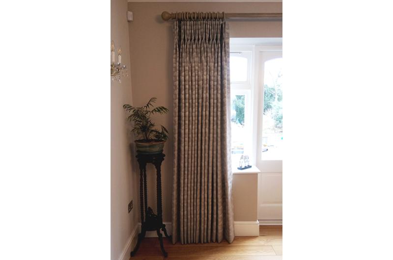 handmade bespoke  curtains wooden pole