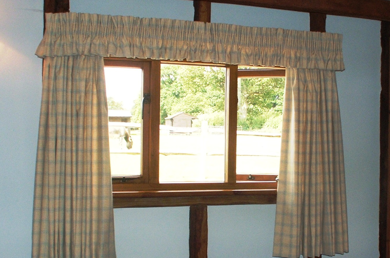 handmade bespoke curtains with valance