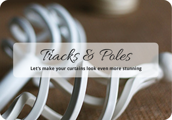 handmade bespoke made to measure Tracks and Poles - Dressing Rooms