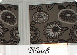Bespoke handmade blinds - Dressing Rooms bespoke curtain makers service