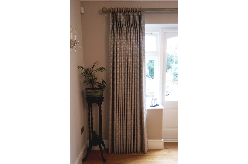handmade bespoke  curtains wooden pole
