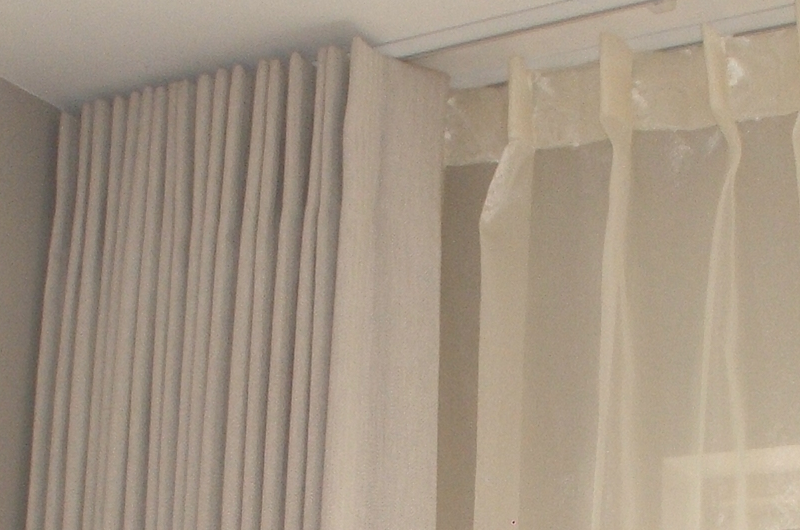 handmade bespoke layered curtains and voiles