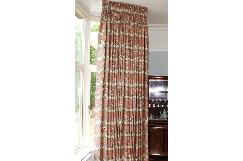 handmade bespoke curtains  bay pole