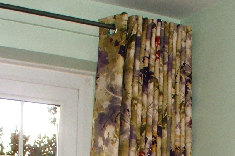 handmade bespoke door curtain