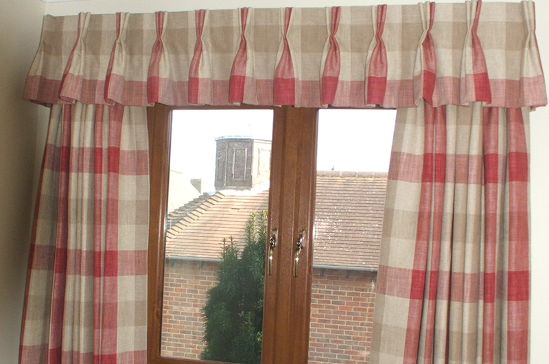 handmade bespoke Pinch pleat valance